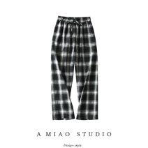Casual pants As shown in the figure S,M,L Autumn 2020 trousers Wide leg pants High waist commute 71% (inclusive) - 80% (inclusive) Retro