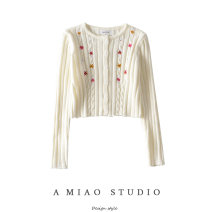 Wool knitwear Autumn 2020 S, M Purple, black, off white Long sleeves singleton  Cardigan other 71% (inclusive) - 80% (inclusive) have cash less than that is registered in the accounts commute Self cultivation routine Single breasted Retro