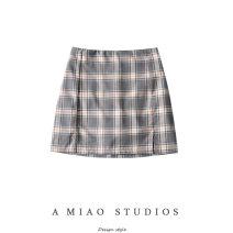 skirt Summer 2020 S,M,L As shown in the figure Short skirt commute High waist lattice 71% (inclusive) - 80% (inclusive) Retro