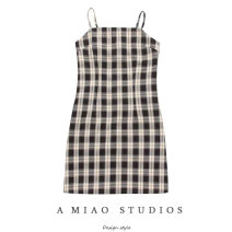 Dress Spring 2020 As shown in the figure S,M,L Short skirt singleton  commute High waist lattice camisole Retro 71% (inclusive) - 80% (inclusive)