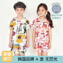 Home suit UNIFRIEND 130cm,140cm,150cm,90cm,160cm,100cm,110cm,120cm spring and autumn neutral Cotton 100% 3-5 years old, 5-7 years old, 7-9 years old, 9-11 years old hygroscopic and sweat releasing cotton Class A