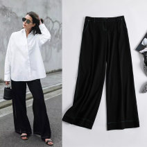 Suit pants / suit pants 36,38,40,42 black Spring of 2019 Broad foot low-waisted trousers routine Self made pictures 51% (inclusive) - 70% (inclusive) lady wool