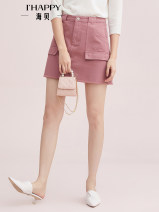 skirt Autumn of 2019 S,M,L,XL Short skirt High waist A-line skirt other Type A 25-29 years old other Ihappy / seashells other pocket