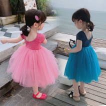 Dress blue , black , Rose Pink female Other / other The recommended height is 70-80cm for 80, 80-90cm for 90, 90-100cm for 100, 100-110cm for 110, 110-120cm for 120, 120-130cm for 130 and 130-140cm for 140 Polyester 100% winter Europe and America Cartoon animation polyester A-line skirt