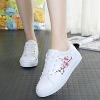 canvas shoe Other / other Low Gang 8893 white standard 8893 green standard WD standard 2819 blue by one size 2819 pink by one size 6610 white standard 6610 pink standard 35 36 37 38 39 40 Spring of 2018 Frenulum leisure time rubber Color matching Cross tie color matching