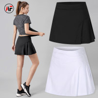 Sports skirt Xidida / sidida female Summer 2021 Sports & Leisure Letter, brand logo Women's tennis polyester fiber