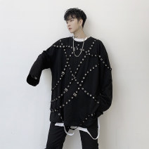 T-shirt Youth fashion black routine M,L,XL Others Long sleeves Crew neck easy Other leisure Four seasons youth routine tide 2019