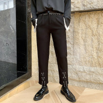 Casual pants Others Youth fashion black M,L,XL,2XL routine Ninth pants Other leisure Self cultivation Micro bomb 750MK329 Four seasons youth like a breath of fresh air 2019 Medium low back Little feet