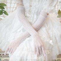 glove other White, black Finger gloves