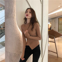 Wool knitwear Autumn of 2019 S,M,L,XL White, coffee, black, milk tea, cream apricot Long sleeves singleton  Socket other More than 95% have cash less than that is registered in the accounts thickening commute Self cultivation Half height crew neck routine Solid color Socket Retro 18-24 years old