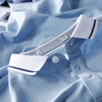 T-shirt Fashion City thin Huasachi Short sleeve Shirt collar standard Other leisure summer youth routine tide 2020 Geometric pattern cotton More than 95%