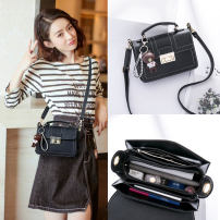 Bag The single shoulder bag PU Small square bag Mengqiao Warm tips - buy free freight insurance red green black brand new Japan and South Korea Small