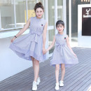 Parent child fashion Women's dress female Other / other summer Korean version Thin money stripe skirt Cotton polyester L,M,XL Polyester 100% Class B 3, 4, 5, 7, 8, 9, 10, 11, 12, 13, 14