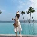 Dress Summer of 2019 white S,M,L Mid length dress singleton  Sleeveless commute High waist Solid color A-line skirt camisole Type A Korean version polyester fiber