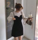 Dress Winter 2020 S,M,L Short skirt singleton  Sleeveless commute V-neck High waist Solid color A-line skirt routine Others Type A Retro 51% (inclusive) - 70% (inclusive) other