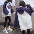 Women's large Autumn of 2018 Grey [thin], grey [Plush] Big XL [recommended 100-130 kg], big 2XL [recommended 130-150 kg], big 3XL [recommended 150-170 kg], big 4XL [recommended 170-210 kg] Sweater / sweater singleton  commute easy moderate Socket Long sleeves Solid color, letter Korean version Hood