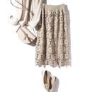 skirt Autumn 2020 Average size Black, Micah Mid length dress Versatile Natural waist Type H