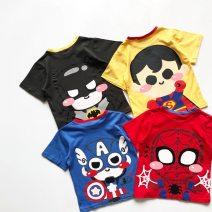 T-shirt Grey - T-shirt, red - T-shirt, yellow - T-shirt, blue - T-shirt MICDODDOKIDS 90cm,100cm,110cm,120cm,130cm,140cm male summer Short sleeve Crew neck Cartoon There are models in the real shooting nothing cotton Cartoon animation Cotton 100% 37-02 Sweat absorption Chinese Mainland