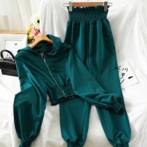 Fashion suit Autumn 2020 Average size Black, gray, dark green 18-25 years old 51% (inclusive) - 70% (inclusive) cotton