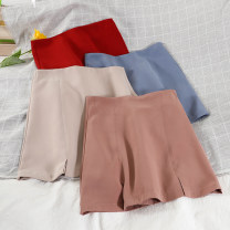 skirt Summer 2021 S,M,L Black, white, red, blue, pink, khaki Short skirt commute High waist A-line skirt Solid color Type A 18-24 years old 51% (inclusive) - 70% (inclusive) other Korean version