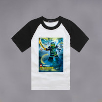 T-shirt white , Sleeve red , Sleeve blue , Black sleeves , Yellow sleeves Other / other 90cm,100cm,110cm,120cm,130cm,140cm neutral No season Short sleeve Crew neck nothing Cartoon animation Cotton 100% Class A other