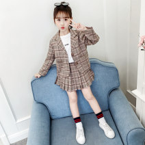 Professional dress suit 110, 120, 130, 140, 150, 160, 170 Spring 2020 Long sleeves Shirt, coat other Under 17 Other / other 81% (inclusive) - 90% (inclusive) cotton