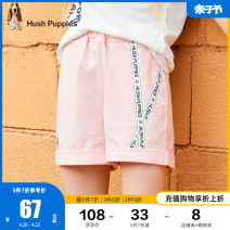 trousers Hush Puppies / Hush Puppies female 105cm 110cm 120cm 130cm 140cm 150cm 160cm 170cm Grey powder al Diamond Black summer shorts motion There are models in the real shooting Sports pants Leather belt middle-waisted cotton Cotton 100% THPOXGD08CE601M Class B Summer 2021