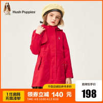 Plain coat Hush Puppies / Hush Puppies female 105cm 110cm 120cm 130cm 140cm 150cm 160cm 170cm Warm Kaqi coral red spring and autumn leisure time Zipper shirt There are models in the real shooting routine Detachable cap Solid color cotton HPOQGD22CC645 Cotton 100% Class B Spring 2021