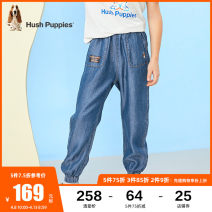 trousers Hush Puppies / Hush Puppies male 105cm 110cm 120cm 130cm 140cm 150cm 160cm 170cm summer trousers leisure time Casual pants Leather belt middle-waisted other Don't open the crotch Lyocell 100% Class B Summer 2021 Chinese Mainland