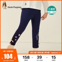 trousers Hush Puppies / Hush Puppies female 90cm 100cm 110cm 120cm 130cm Grey Navy Diamond Black spring and autumn trousers leisure time There are models in the real shooting Leggings Leather belt middle-waisted blending Cotton 96% polyurethane elastic fiber (spandex) 4% HPPCGX47CH638 Class A