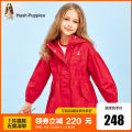 Plain coat Hush Puppies / Hush Puppies female 105cm 110cm 120cm 130cm 140cm 150cm 160cm 170cm Light Khaki light lilac cherry red spring and autumn leisure time Zipper shirt There are models in the real shooting routine No detachable cap Solid color cotton HPPCGD49CC517 Cotton 100% Class C Spring 2021