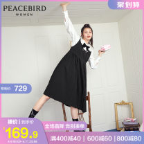 Dress Winter 2020 Black black (presale 2) black (presale 3) black (presale 4) black (presale 1) M S L Short skirt singleton  Sleeveless other High waist Socket Big swing routine 25-29 years old Peacebird AWFAA4610 More than 95% other Pure e-commerce (online only)