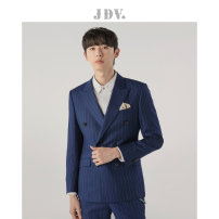 man 's suit J.D.V Business gentleman routine 165/XS 170/S 175/M 180/L 180/XL 185/XXL Autumn of 2018 Self cultivation Two double breasted go to work No slits Pure e-commerce (online only) youth Long sleeves autumn routine Business Formal  Formal dress Round hem stripe Digging bags with lids
