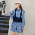 Fashion suit Spring 2020 S, M Blue stripe 18-25 years old 96% and above polyester fiber