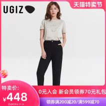 T-shirt Purple / PP light green / Le S M Summer 2021 Short sleeve Crew neck Straight cylinder Regular routine commute other 96% and above 25-29 years old Korean version youth UGIZ UBTE320 Other 100% Same model in shopping mall (sold online and offline)