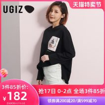 T-shirt White / wt Black / BK S M Spring 2020 Long sleeves Crew neck easy Regular routine commute cotton 96% and above 25-29 years old youth letter UGIZ UATD120 Cotton 100% Same model in shopping mall (sold online and offline)