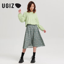 Sweater / sweater Autumn 2020 Black / BK green / Ge S M Long sleeves routine Socket singleton  routine Hood easy commute routine letter 25-29 years old 96% and above UGIZ Korean version cotton UCTD818 Printed Drawstring cotton Cotton 97% polyurethane elastic fiber (spandex) 3%