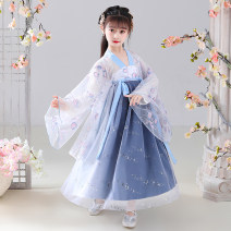 Tang costume Shoes with big sleeves, shoes with big sleeves, shoes without big sleeves, shoes without big sleeves 110,120,130,140,150,160,170 Other 100% female summer routine polyester fiber Broken flowers Cotton liner