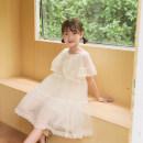 Dress Light beige female 120cm,130cm,140cm,150cm,160cm Polyester 60% cotton 40% Five, 12