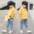suit Great eagle of the century White yellow 110cm 120cm 130cm 140cm 150cm 160cm male spring and autumn Korean version Long sleeve + pants 2 pieces routine There are models in the real shooting Single breasted nothing Cartoon animation cotton CJQH-01 Class C Spring 2021