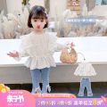 suit Tongsen Tongma 90cm 100cm 110cm 120cm 130cm 140cm female spring and autumn Korean version Long sleeve + pants 2 pieces routine There are models in the real shooting Socket nothing other Class B Other 100% Spring 2021