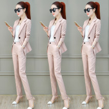 Fashion suit Spring 2020 S M L XL Pink apricot grey black 25-35 years old Yilianba QEL7707'\\. Polyester 98% polyurethane elastic fiber (spandex) 2% Pure e-commerce (online only)