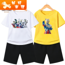 suit Tomami currency summer leisure time Short sleeve + pants 2 pieces Thin money No model Condom nothing Cartoon animation cotton children kIzpI Class B Cotton 80% polyester 20% Chinese Mainland Shanghai Shanghai 110cm 120cm 130cm 140cm 150cm 160cm