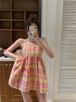 Dress Spring 2021 Picture color Average size Short skirt singleton  Sleeveless commute other High waist stripe Socket Princess Dress other camisole 18-24 years old Type A Other / other Korean version 51% (inclusive) - 70% (inclusive) other other