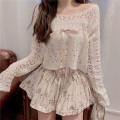 Wool knitwear Summer 2021 Average size Cut out knitwear, floral skirt Long sleeves singleton  Socket acrylic fibres 51% (inclusive) - 70% (inclusive) have cash less than that is registered in the accounts routine commute easy other routine other Socket Korean version 18-24 years old Other / other