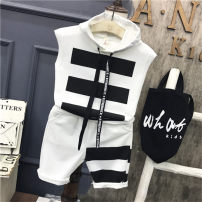 suit Other / other White suit, black suit The recommended height is 90cm for size 7, 100cm for size 9, 110cm for size 11, 120cm for size 13 and 130cm for size 15 male summer leisure time Short sleeve + pants 2 pieces Thin money No model Class B Other 100%