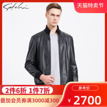 leather clothing Satchi Business gentleman black 44 46 48 50 52 54 56 58 routine Leather clothes winter go to work middle age Other 100% Business Casual 88WHA8271702 Autumn 2020 Same model in shopping mall (sold online and offline)