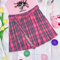 skirt Summer 2020 S code, M code, l code Pleated skirt, sock Short skirt Sweet High waist Pleated skirt lattice Type A 18-24 years old More than 95% other Other / other other lattice solar system