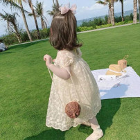 Dress Off white female Other / other 90cm,100cm,110cm,120cm,130cm,140cm Polyester 100% summer Korean version Short sleeve Solid color other Princess Dress 18 months, 2 years old, 3 years old, 4 years old, 5 years old, 6 years old, 7 years old, 8 years old Chinese Mainland