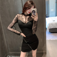 Fashion suit Autumn 2020 S,M,L Black base coat + skirt 25-35 years old 96% and above